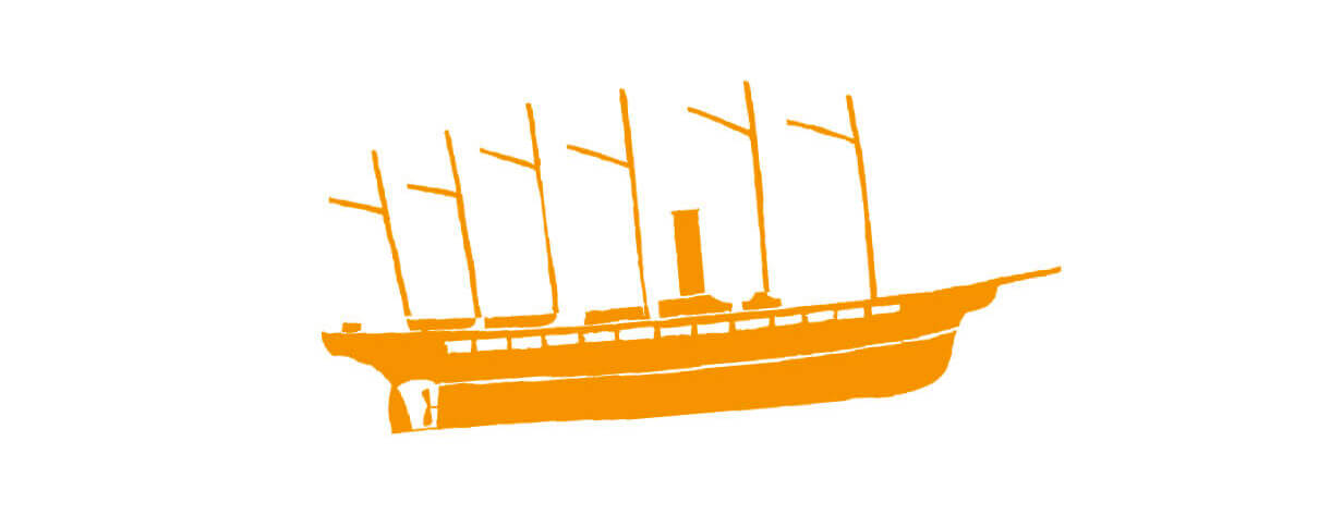Drawing of a boat.
