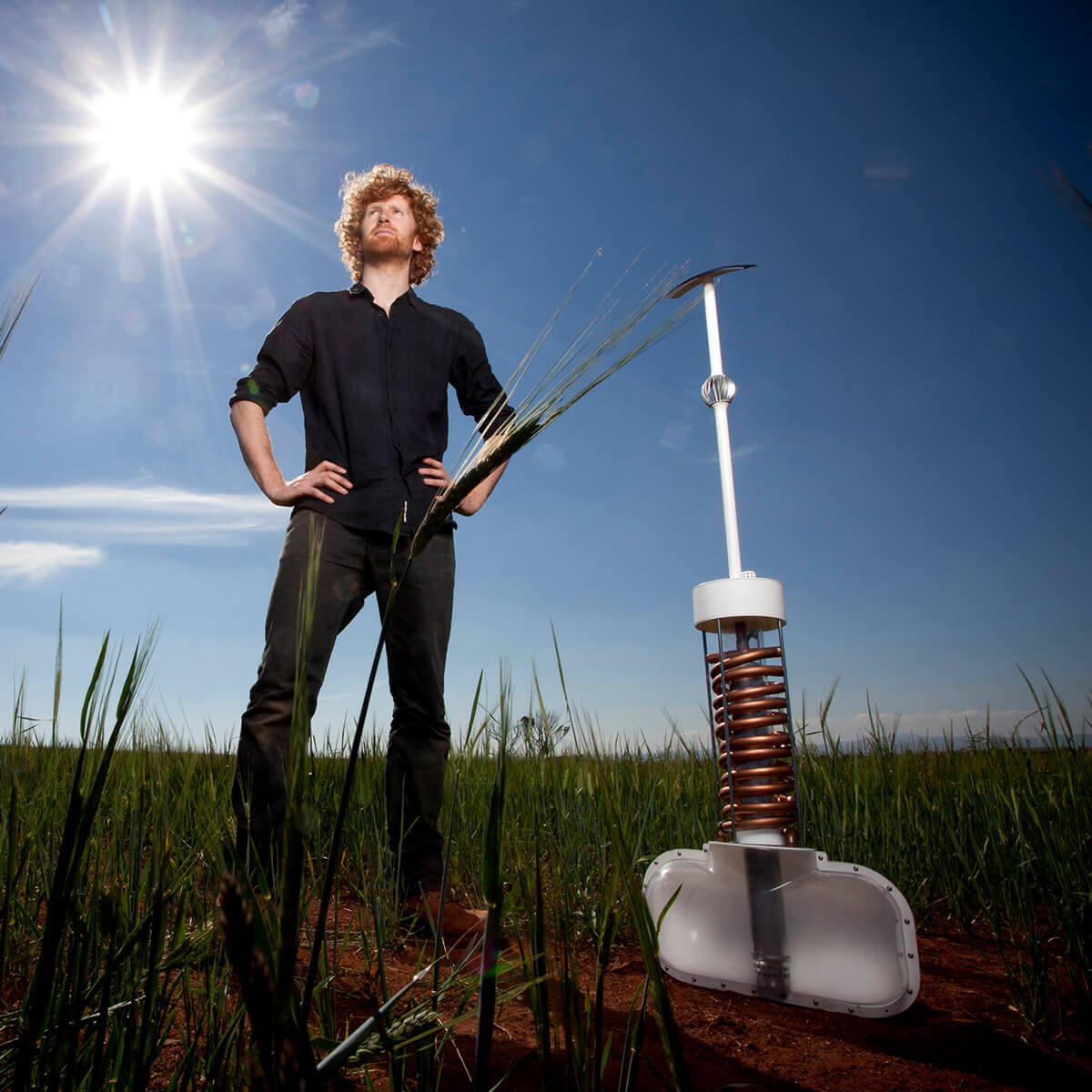2011 international winner of the James Dyson Award, Edward Linacre, with his invention Airdrop.